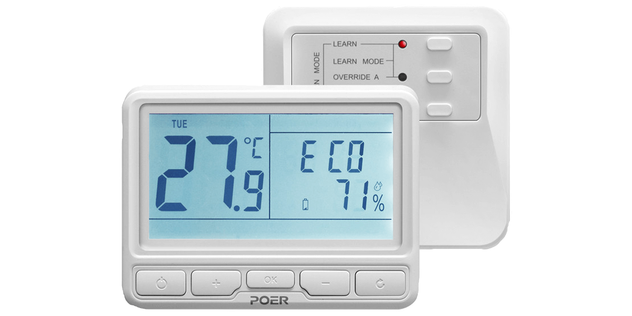 POER PTC10+PTR10 Wireless Thermostat